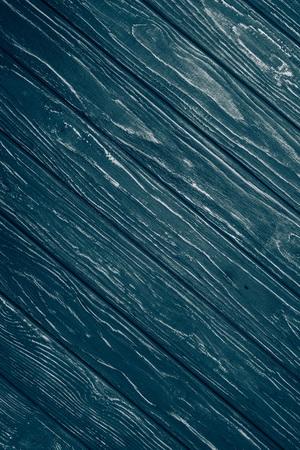 top view of blue diagonal wooden planks surface for background Reklamní fotografie