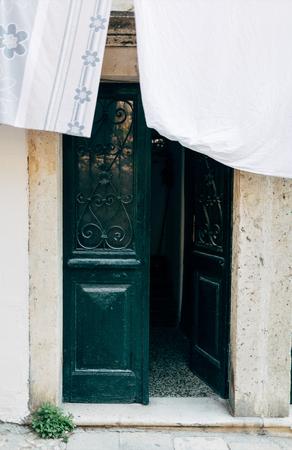close up view of opened door in Dubrovnik city, Croatia