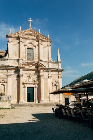 urban scene of historical building in Dubrovnik, Croatia