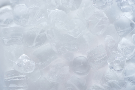 close-up view of frozen ice cubes background Banco de Imagens