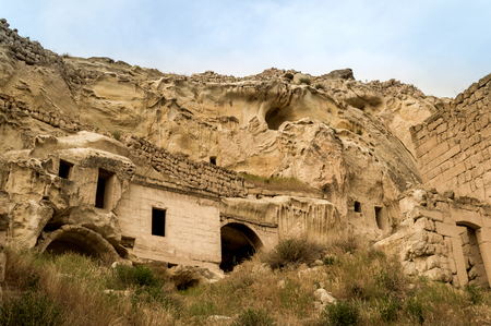 old cave dwelling at Goreme National Park, Cappadocia, Turkey