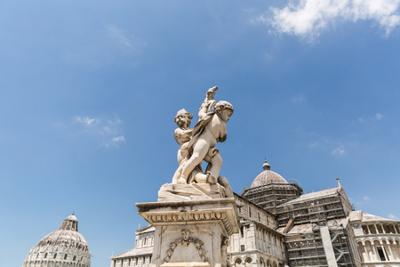 Sculpture of angels on Square of Miracles in Pisa, Italy Stock Photo