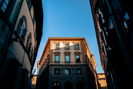 low angle view of beautiful historic buildings in florence, italy 写真素材