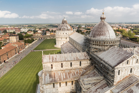 PISA, ITALY - JULY 14, 2017: Cathedral on Square of Miracles in Pisa, Italy Editorial