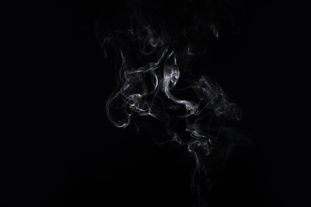 abstract creativity background with white smoke on black 스톡 콘텐츠