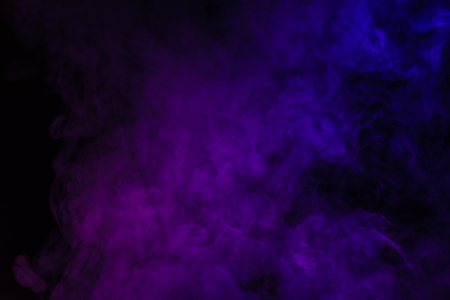 abstract black background with purple smoke