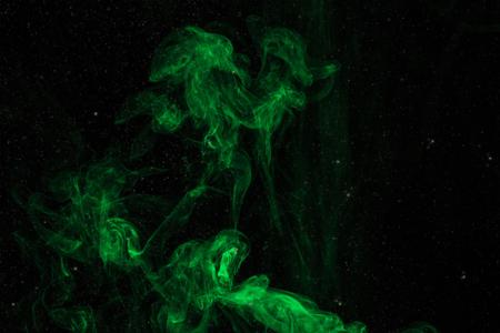 abstract spiritual green smoky background