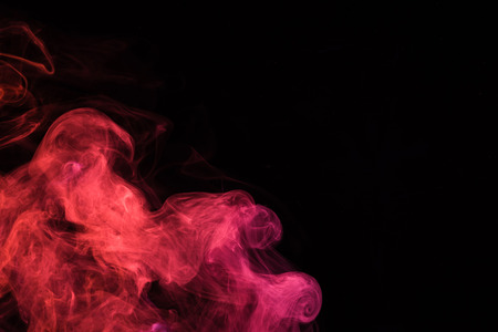 black background with pink mystical smoke
