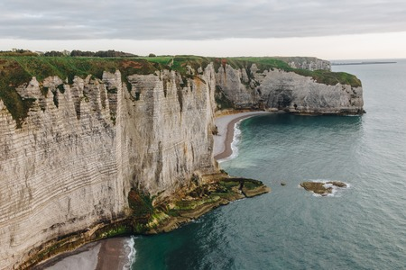 beautiful cliff and sea, Etretat, Normandy, France