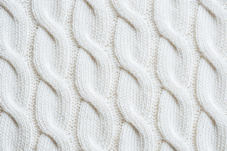 full frame image of white woolen fabric background