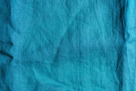 full frame image of blue linen fabric background Stockfoto
