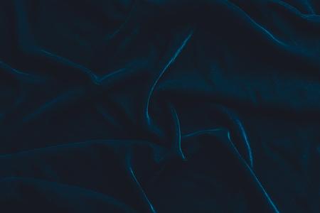 Lujoso fondo de tela de terciopelo azul oscuro