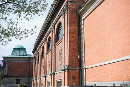 urban scene with historical architecture of copenhagen city, denmark