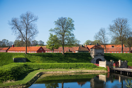 beautiful famous Kastellet or Citadel in copenhagen, denmark