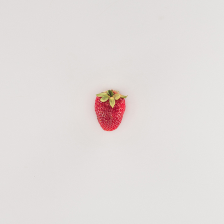 Red ripe strawberry isolated on white background Stock Photo