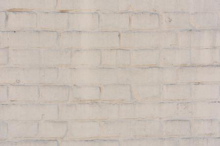 empty white brick wall textured background Stock Photo