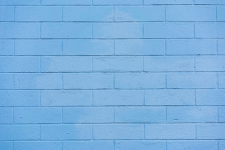 full frame view of blue brick wall textured background