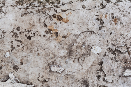 close-up view of old grey weathered wall textured background Standard-Bild - 106074705
