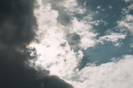 full frame image of cloudy sky background Фото со стока