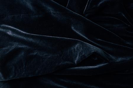 bovenaanzicht van zwart fluweel textiel als achtergrond