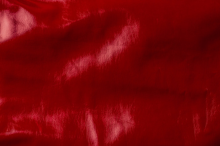 top view of red shiny textile as background Banco de Imagens - 106419729