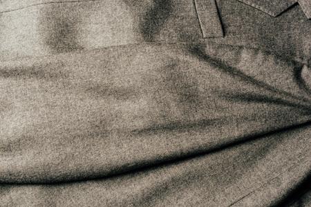 top view of grey textile as background Banco de Imagens - 106420725