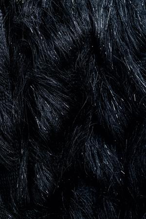top view of furry black textile as background Banco de Imagens