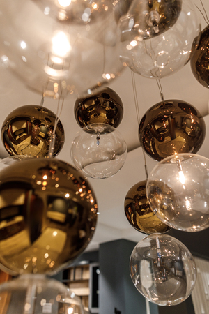 Decorative modern shiny spherical chandelier 写真素材 - 106601643