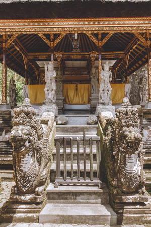 scenic view of beautiful ancient architecture of Temple Complex and Royal Tombs, Bali, Indonesia