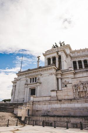 ancient building of Altare della Patria (Altar of the Fatherland) on Piazza Venezia (Venezia Square), Rome, Italy