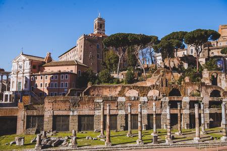 ancient roman forum ruins, Rome, Italy 스톡 콘텐츠