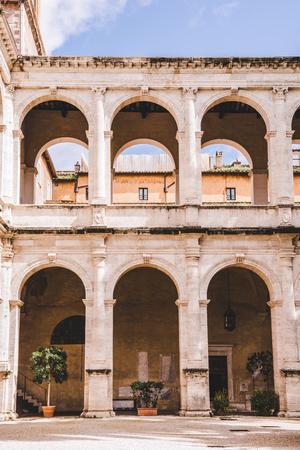 beautiful ancient atrium building, Rome, Italy