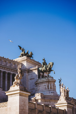 National Monument to Victor Emmanuel II at Altare della Patria (altar of fatherland) in Rome, Italy