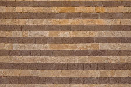 wall of bricks in Orvieto, Rome suburb, Italy
