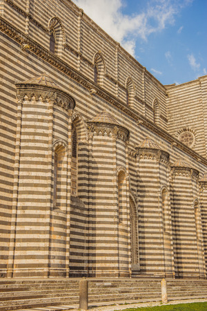 part of Orvieto Cathedral in Orvieto, Rome suburb, Italy Stock Photo