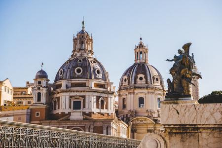 Santa Maria di Loreto (St Maria of Loreto) church in Rome, Italy