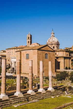 Roman Forum ruins in Rome, Italy Stok Fotoğraf - 106634748