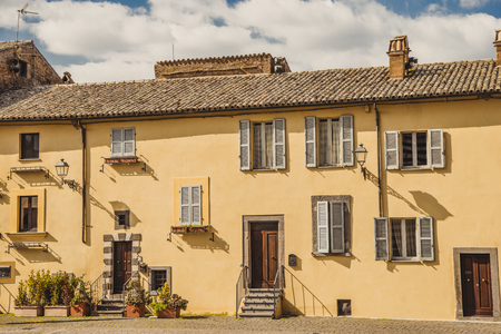 exterior of living house in Orvieto, Rome suburb, Italy