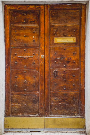 doors of post office in Orvieto, Rome suburb, Italy Stock Photo - 106639688