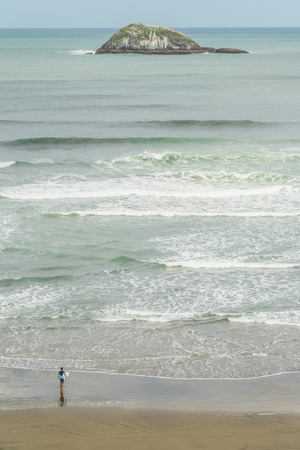 undn, Muriwai beach, New Zealand 写真素材