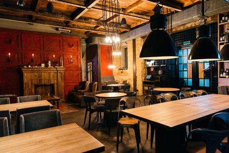 stylish atmospheric interior of empty bar Stockfoto