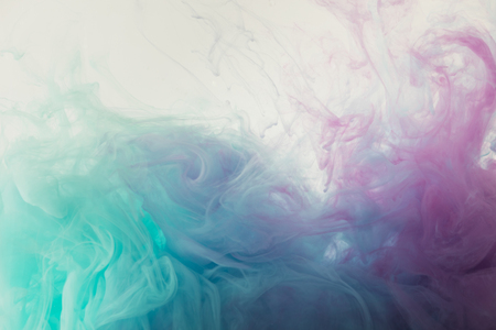 abstract background with flowing blue and purple paint 스톡 콘텐츠