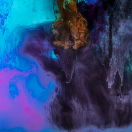 creative background with blue and purple flowing paint