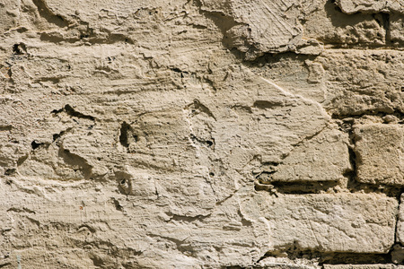 full frame image of putty brick wall background