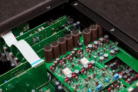 Closeup view of electronic computer mainboard Stock fotó