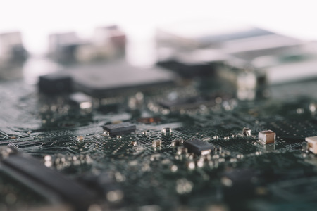Digital circuit board with microchips and components