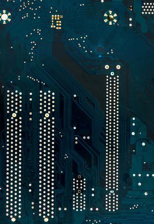 Closeup view of electronic circuit mainboard