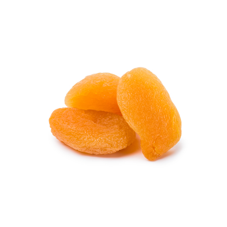 tasty dried apricots isolated on white background
