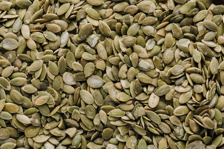 Top view of pumpkin seeds in full screen Stock Photo