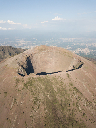aerial view of mount vesuvius, Naples in Campania, Italy